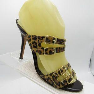 Michael Kors Size 8 M Brown Leopard Sandals R1 C8